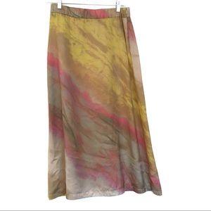 [ZARA] Thin Flowy Pastel Tie Dye Maxi Skirt L